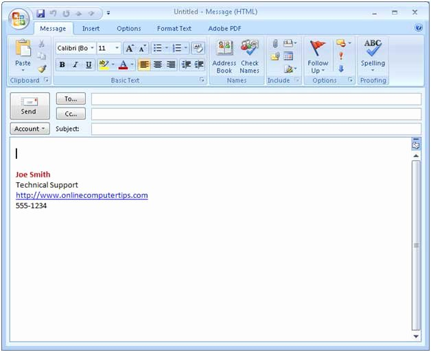 9 Best S Of Microsoft Outlook Email Signature