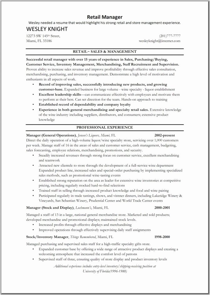 9 Best Sample Resume Images On Pinterest