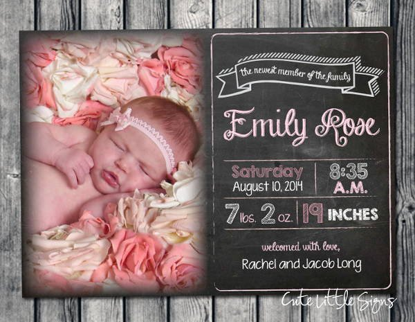 9 Birth Announcement Templates Printable Psd Ai format