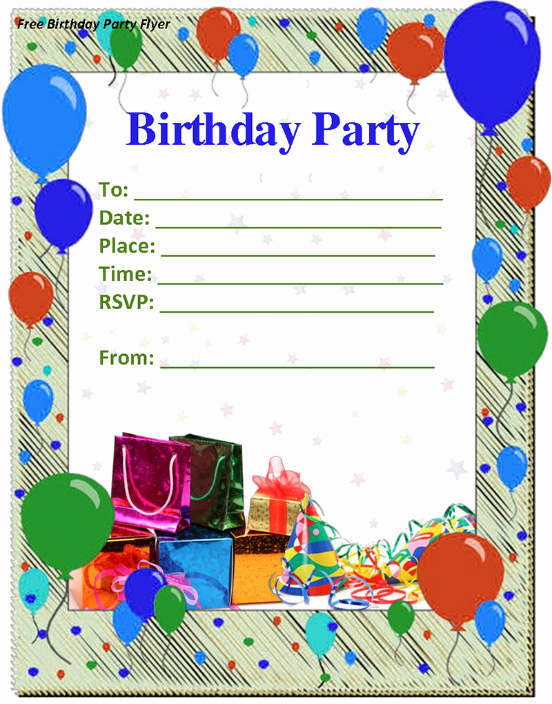 9 Birthday Party Invitation Templates Free Word Designs