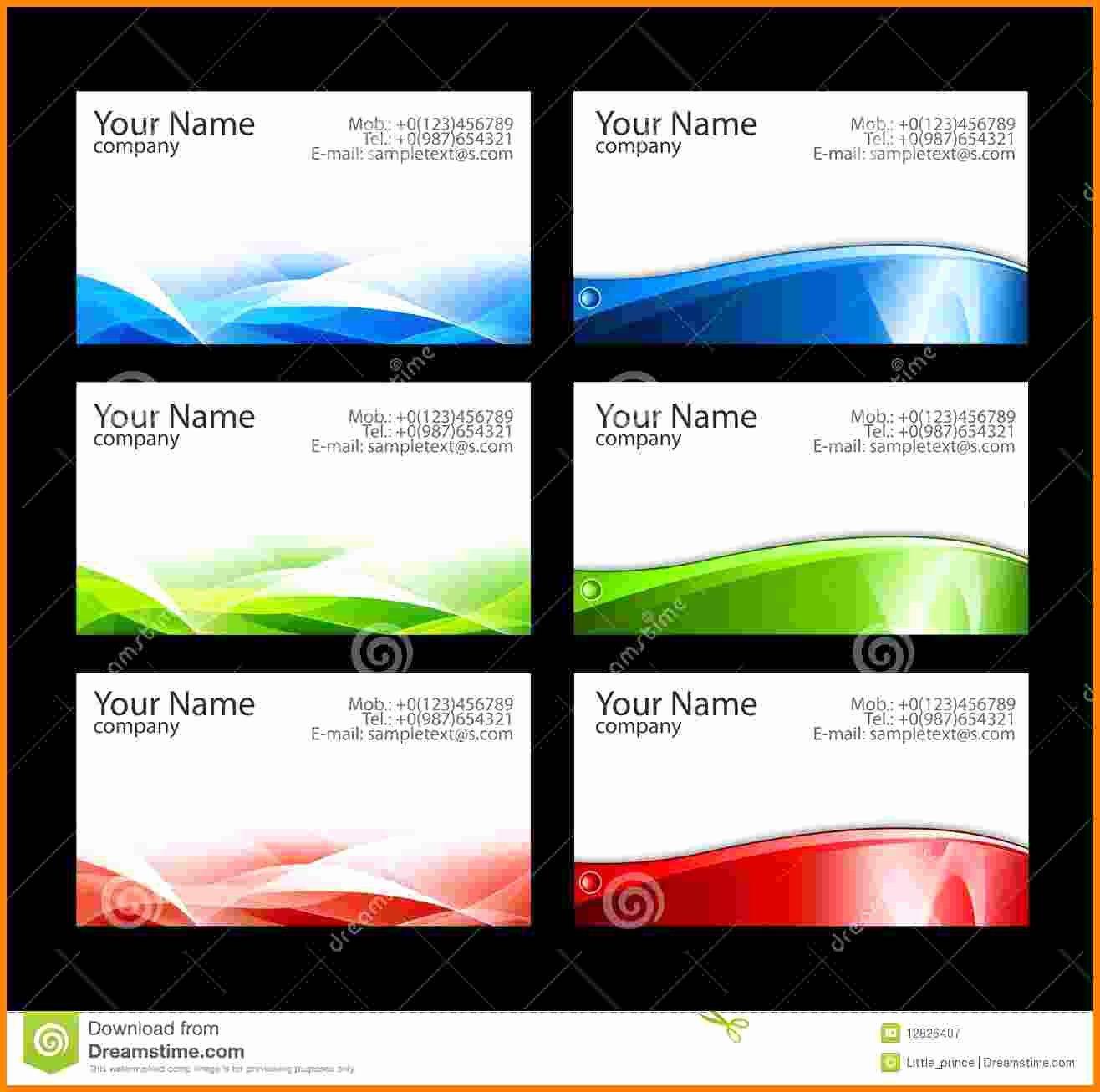 9 Blank Business Card Template Illustrator