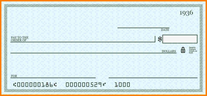 9 Blank Payroll Checks