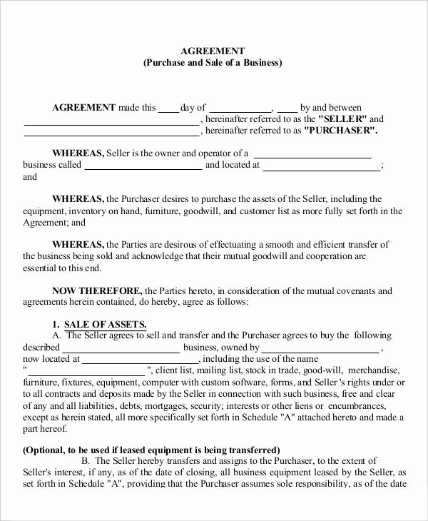 9 Business Agreement Templates Samples Examples format