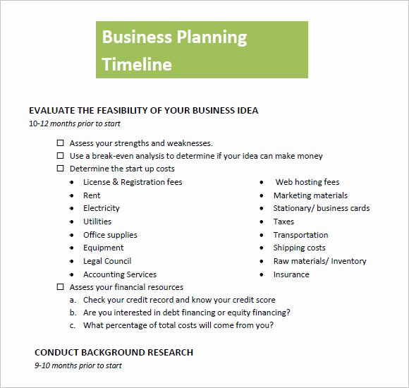 9 Business Timeline Templates – Samples Examples & format