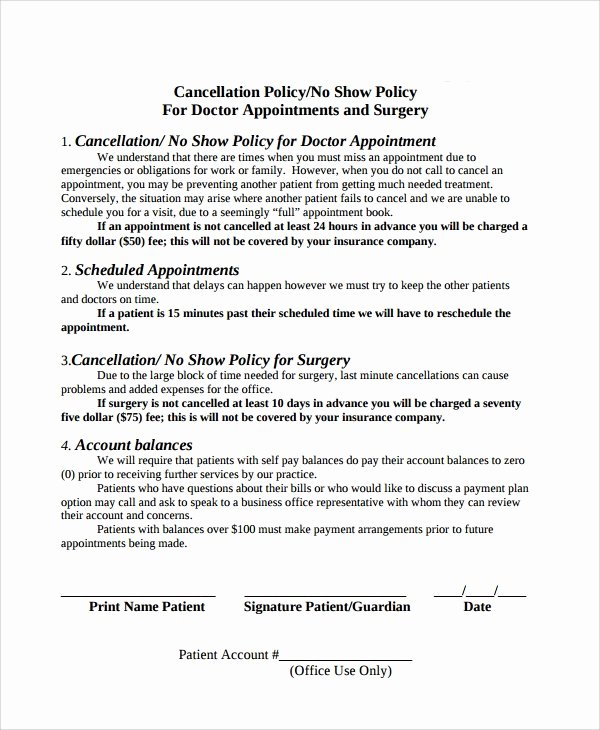 9 Cancellation Policy Templates – Pdf