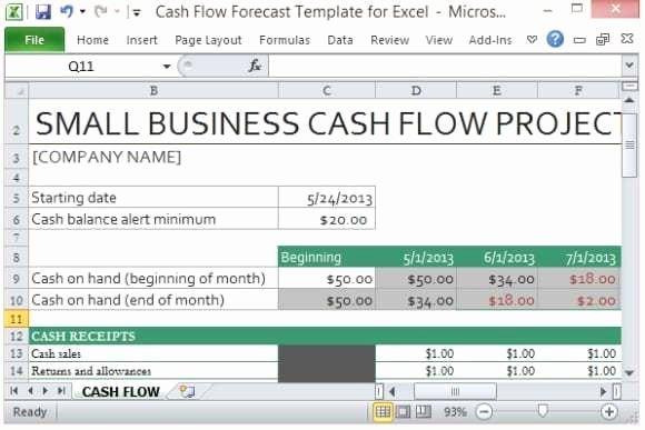 9 Cash Flow Excel Templates Excel Templates