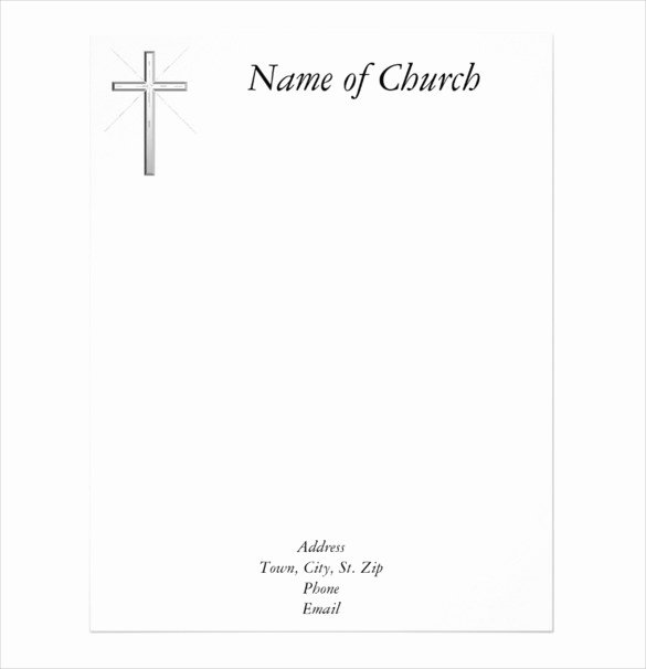 9 Church Letterhead Templates Free Sample Example