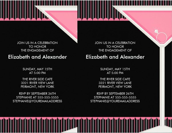 9 Cocktail Party Invitations Psd Eps or Ai format