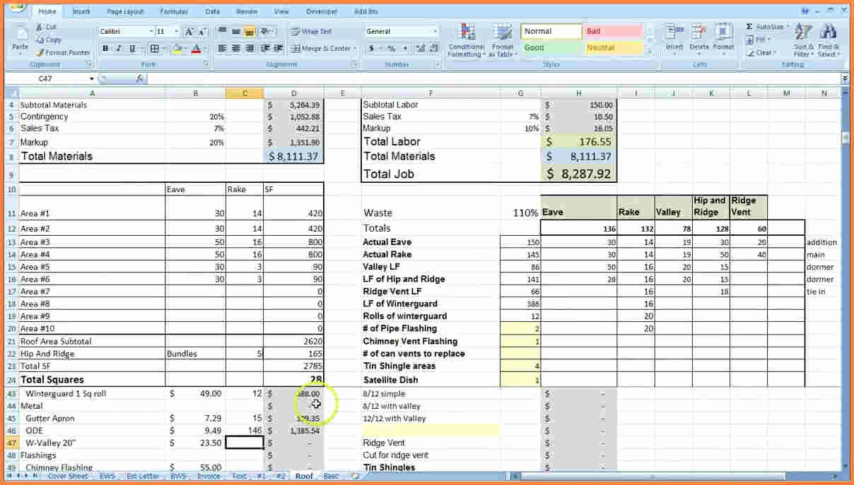 9 Construction Job Costing Spreadsheet