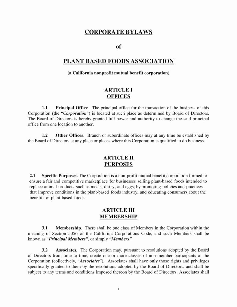 9 Corporate bylaws Templates Pdf