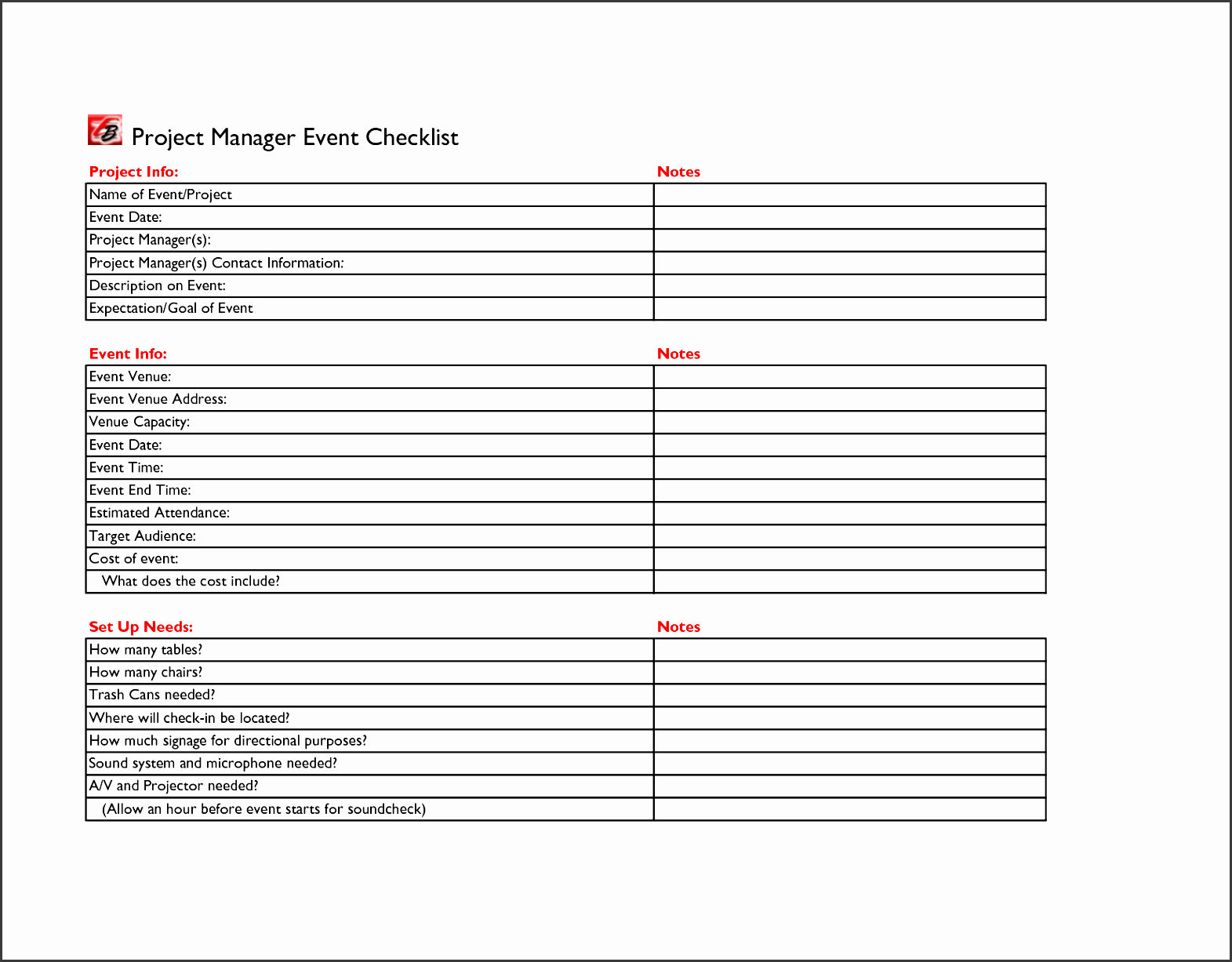9 Corporate Party Guest List Template Sampletemplatess