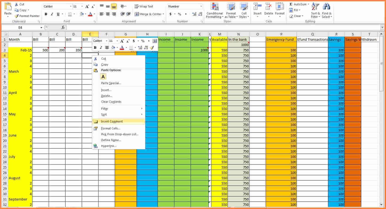 9 Create Bud Spreadsheet