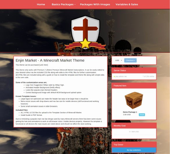9 Creative Minecraft Website themes & Templates