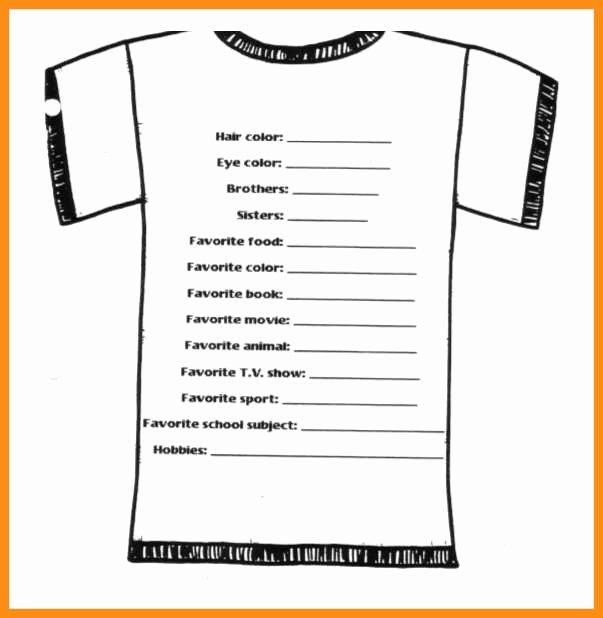 9 Custom T Shirt order form Template