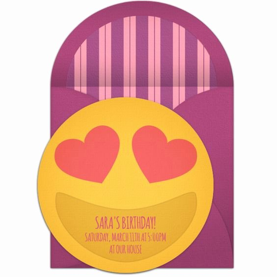 9 Cute Emoji Birthday Invitations