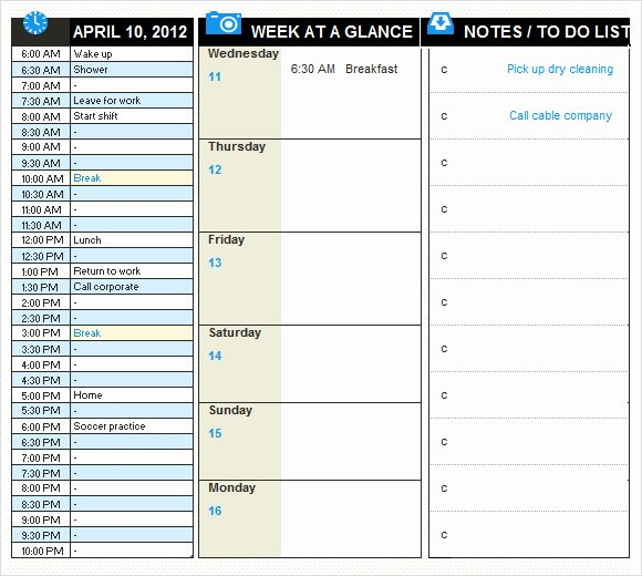 9 Daily Planner Templates – Free Samples Examples