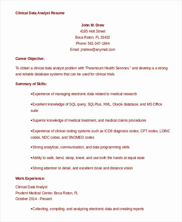 9 Data Analyst Resume Examples Pdf Doc