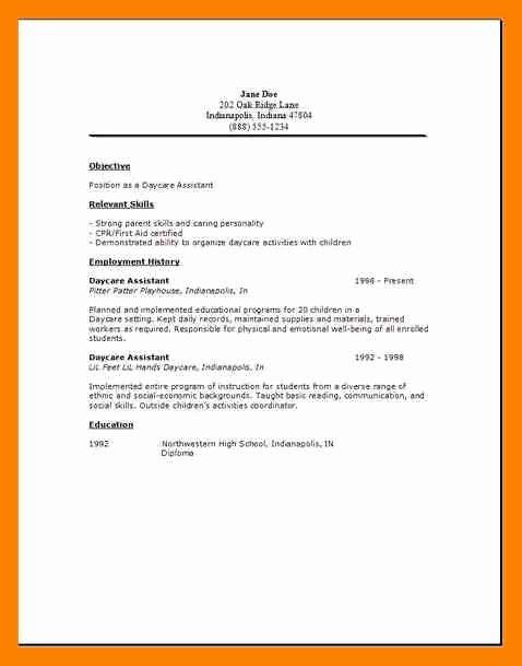9 Daycare Worker Resume