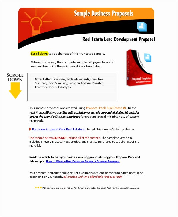 9 Development Project Proposal Templates Free Sample