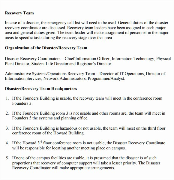 9 Disaster Recovery Plan Templates
