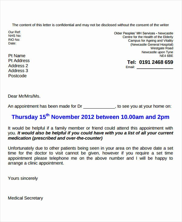 9 Doctor Appointment Letter Templates Doc Pdf