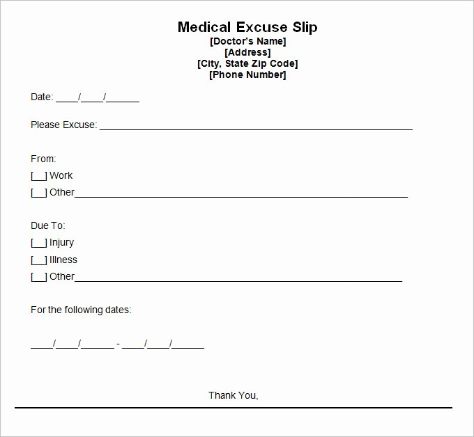 9 Doctor Excuse Templates Pdf Doc