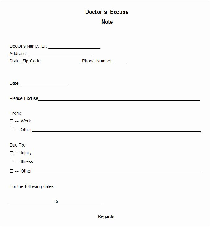 9 Doctor Excuse Templates Pdf Doc