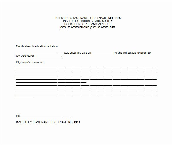 9 Doctor Note Templates for Work Pdf Doc