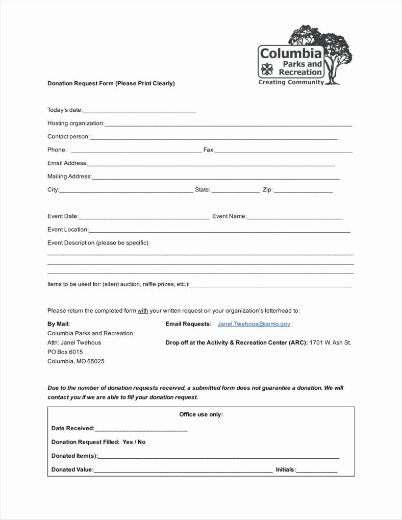 9 Donation Application form Templates Free Pdf format