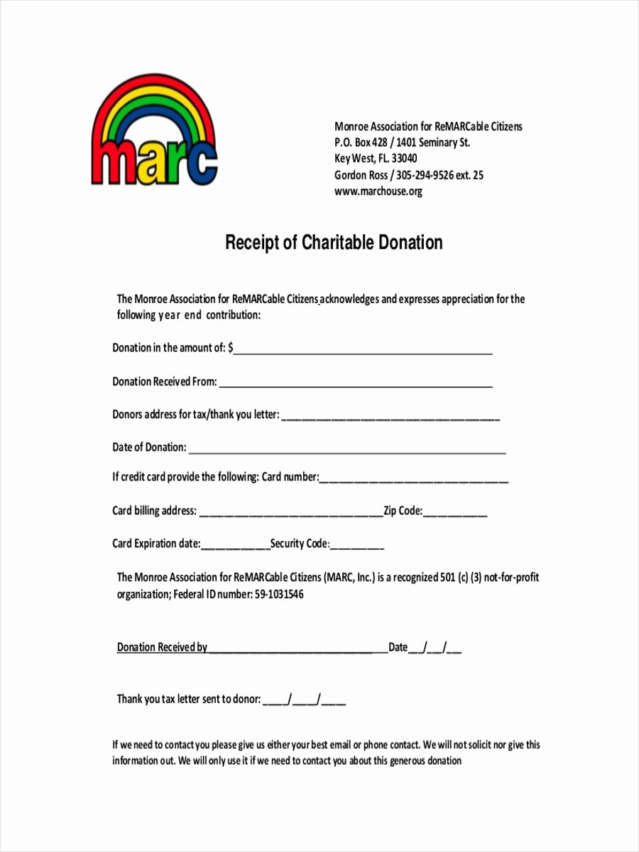 9 Donation Receipt Examples & Samples Pdf Word Pages