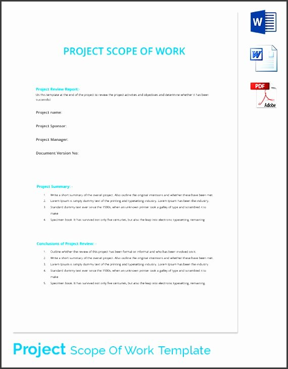 9 Download Free Construction Scope Work Template