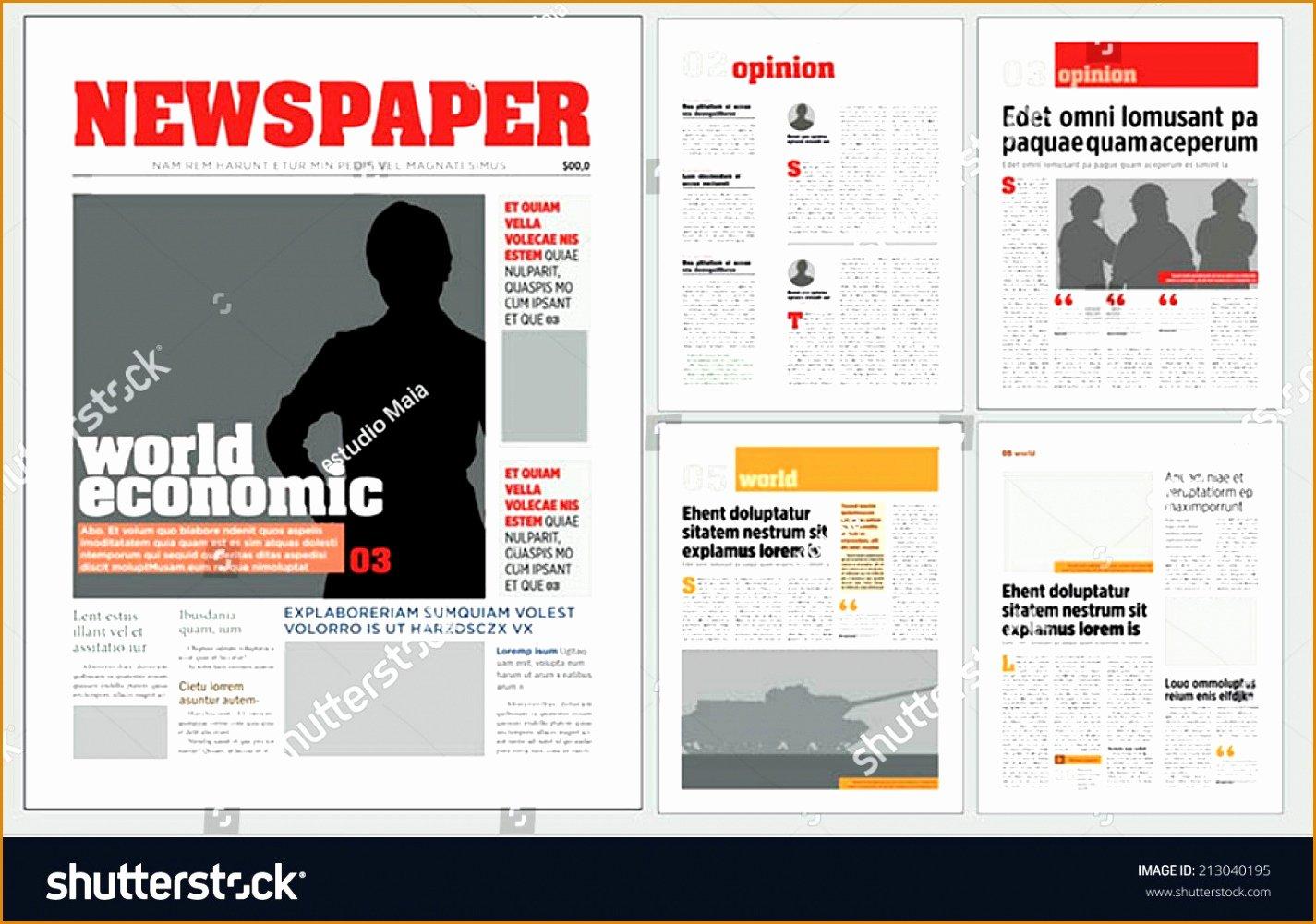 9 Download Newspaper Template Besttemplates Besttemplates
