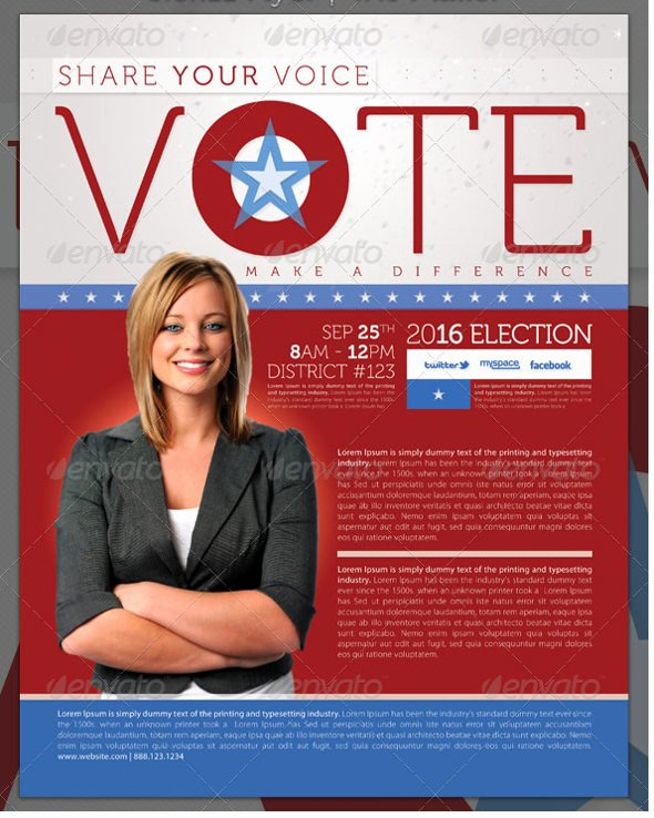 9 Election Brochure Templates – Free Psd Eps