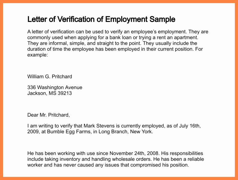 9 Employment Salary Verification Letter