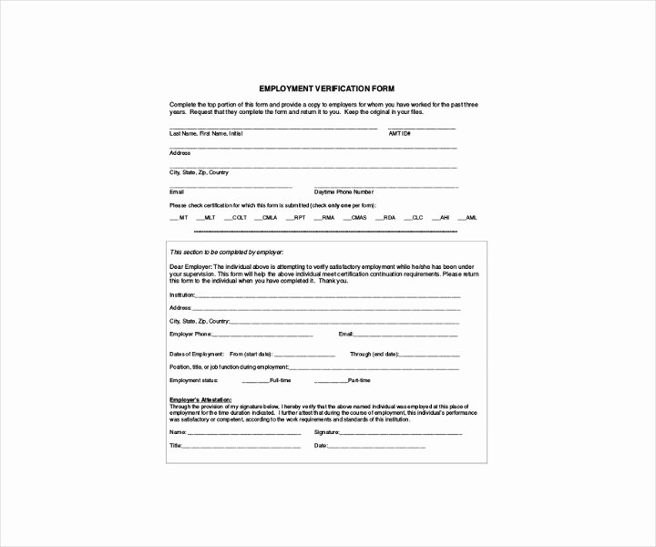 9 Employment Verification forms Free Pdf Doc format
