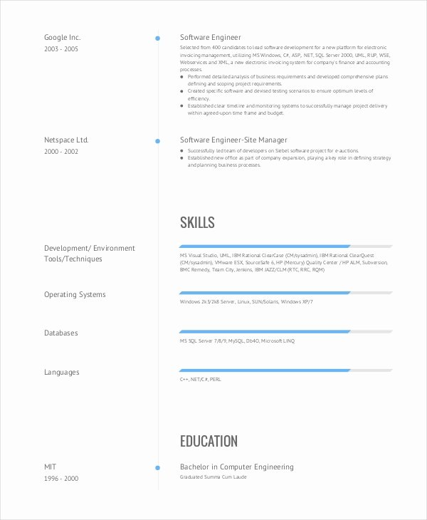 9 Engineering Resume Templates Pdf Doc