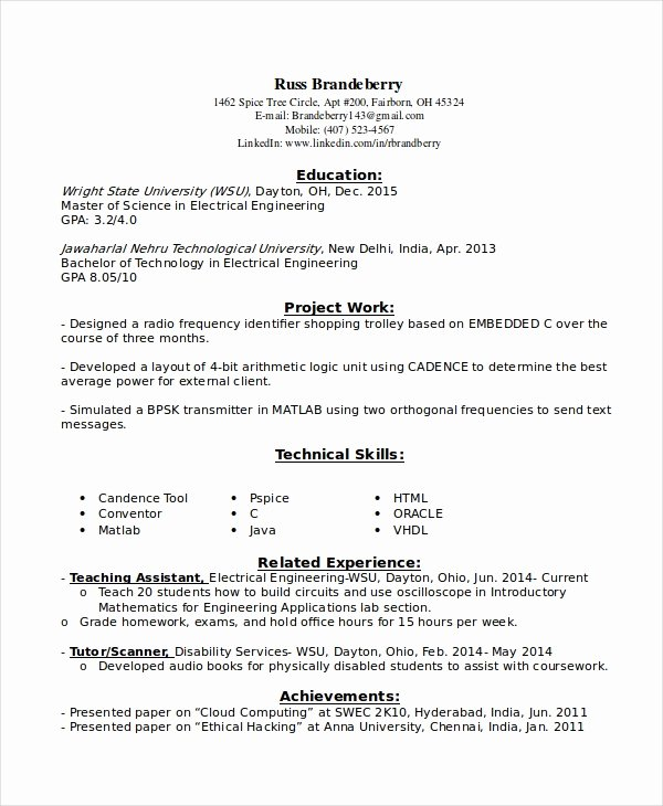 9 Entry Level Resume Examples Pdf Doc