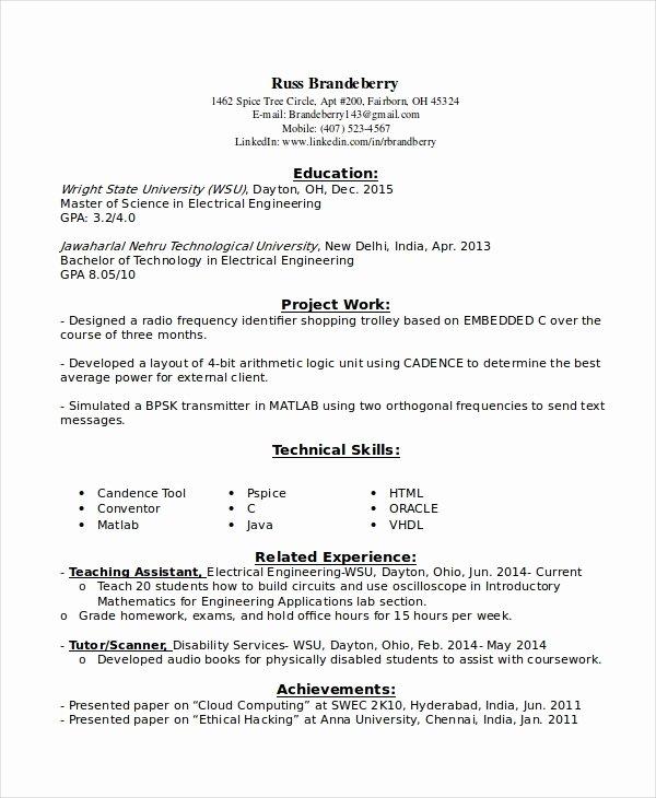9 Entry Level Resume Examples Pdf Doc