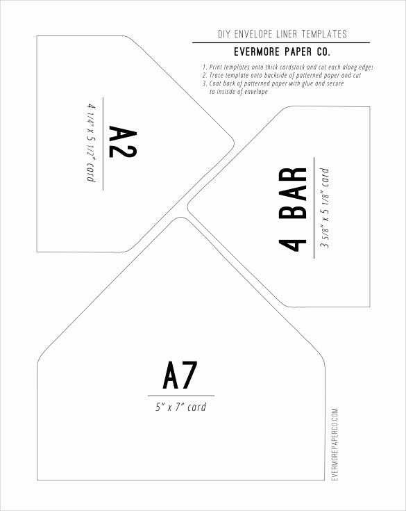 9 Envelope Liner Templates – Samples Examples & formats