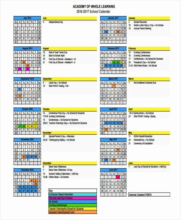9 event Calendar Samples & Templates