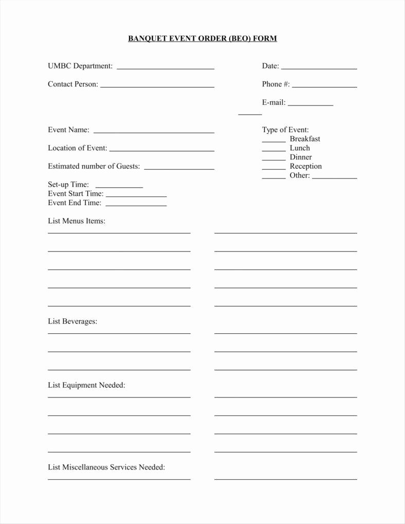 9 event order form Templates