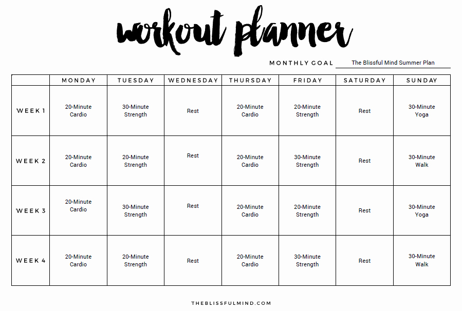 9 Excel Workout Templates Excel Templates