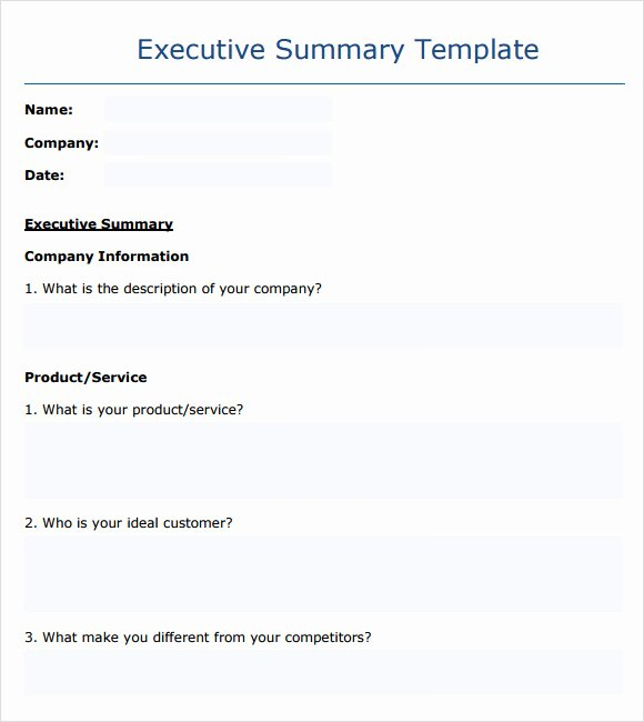 9 Executive Summary Templates for Free Download