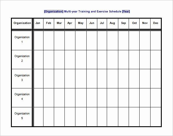 9 Exercise Schedule Templates Doc Pdf