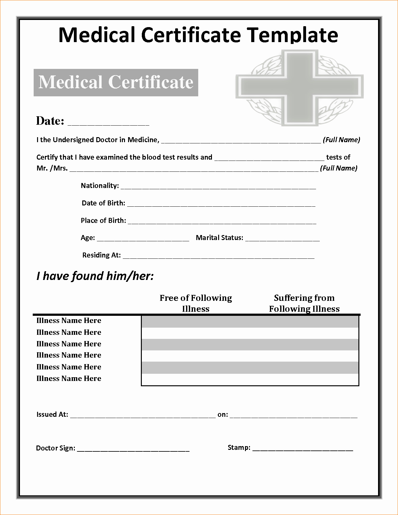 9 Fake Doctors Note Template Freeagenda Template Sample