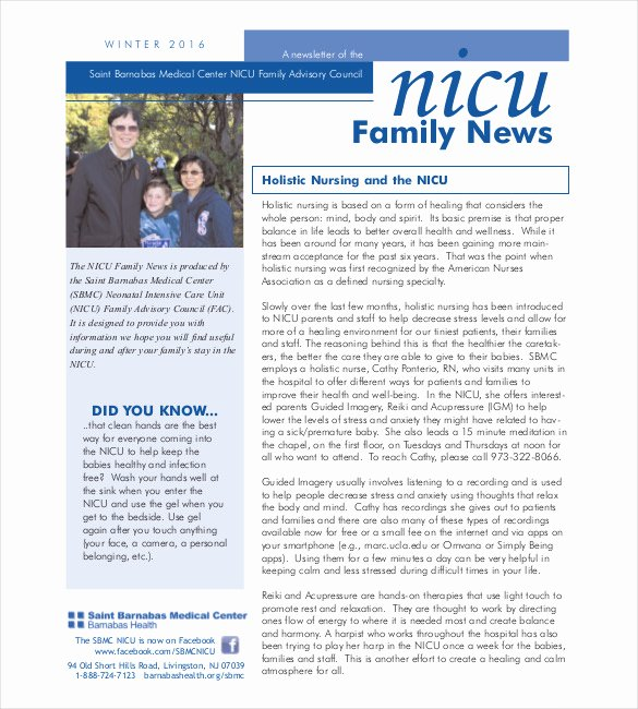 9 Family Newsletter Template Free Psd Pdf Documents