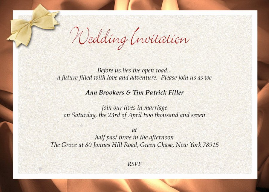 9 Fine formal Invitation Wording Wedding Ebookzdb