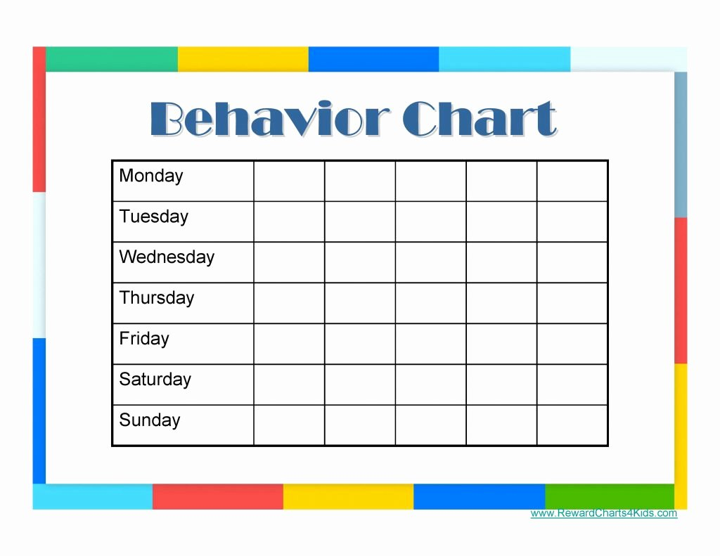 9 Free Behavior Chart Template Word Pdf Docx