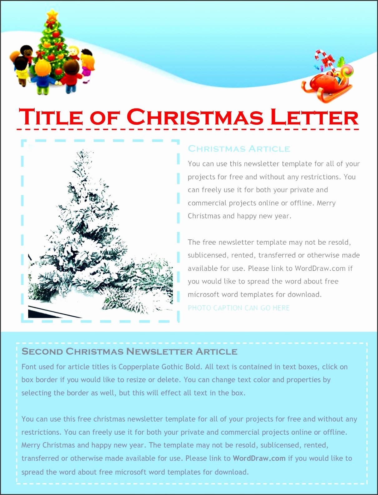 9 Free Christmas Letter Templates Download Word
