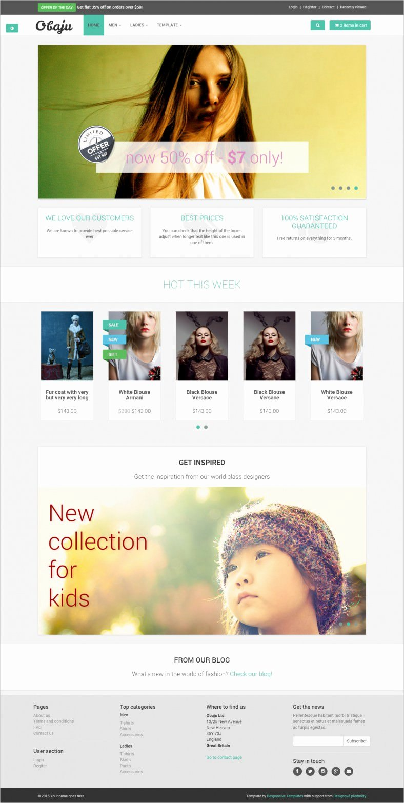 9 Free E Merce Website Templates